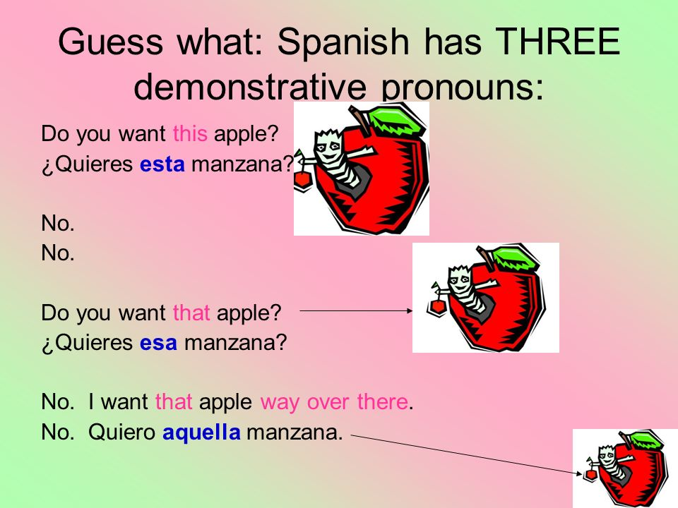 Guess what: Spanish has THREE demonstrative pronouns: