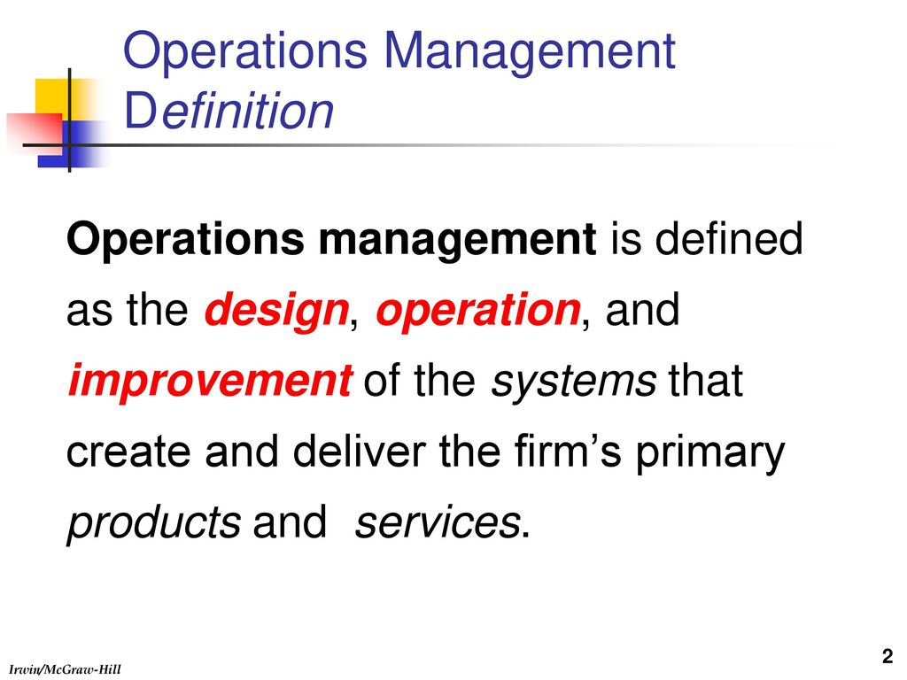 operations management definition - ppt download