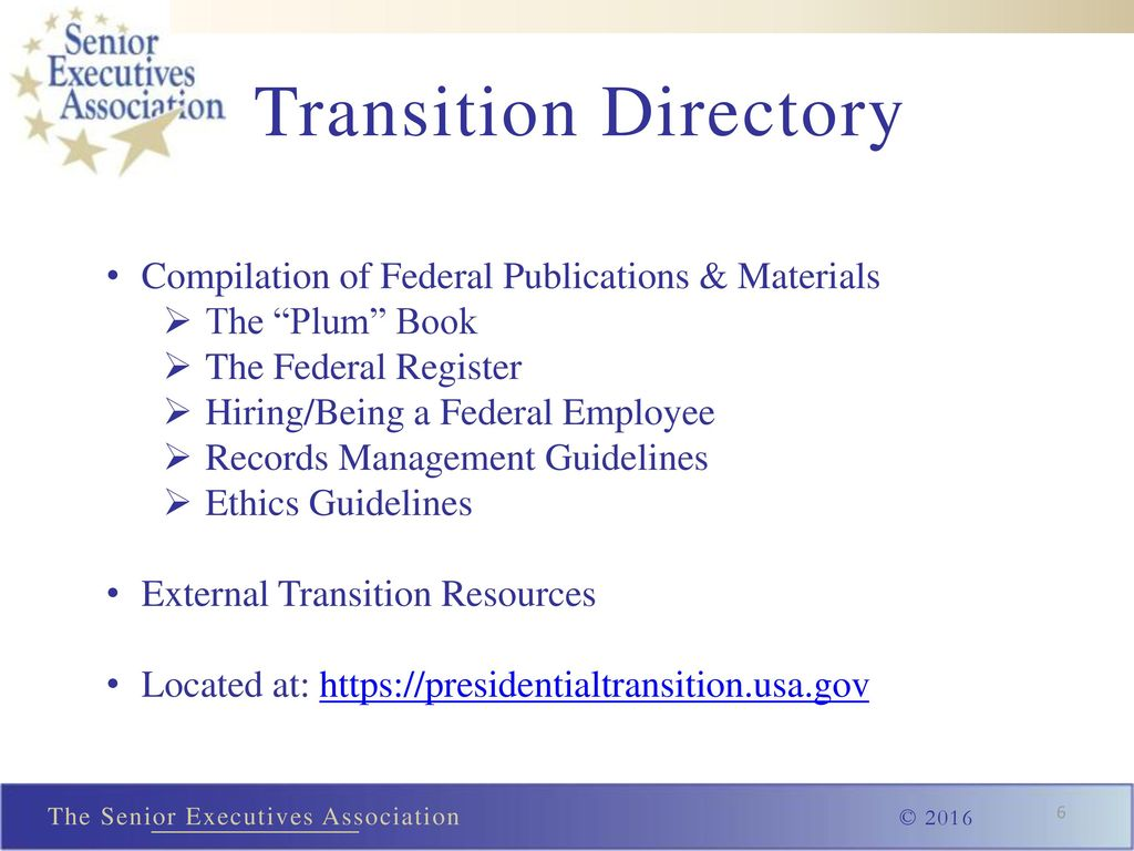6 Transition Directory Compilation