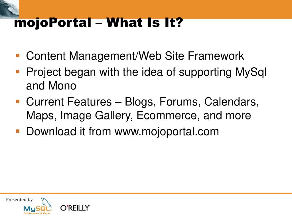 Cross-Platform  NET: Mono and MySQL - ppt download