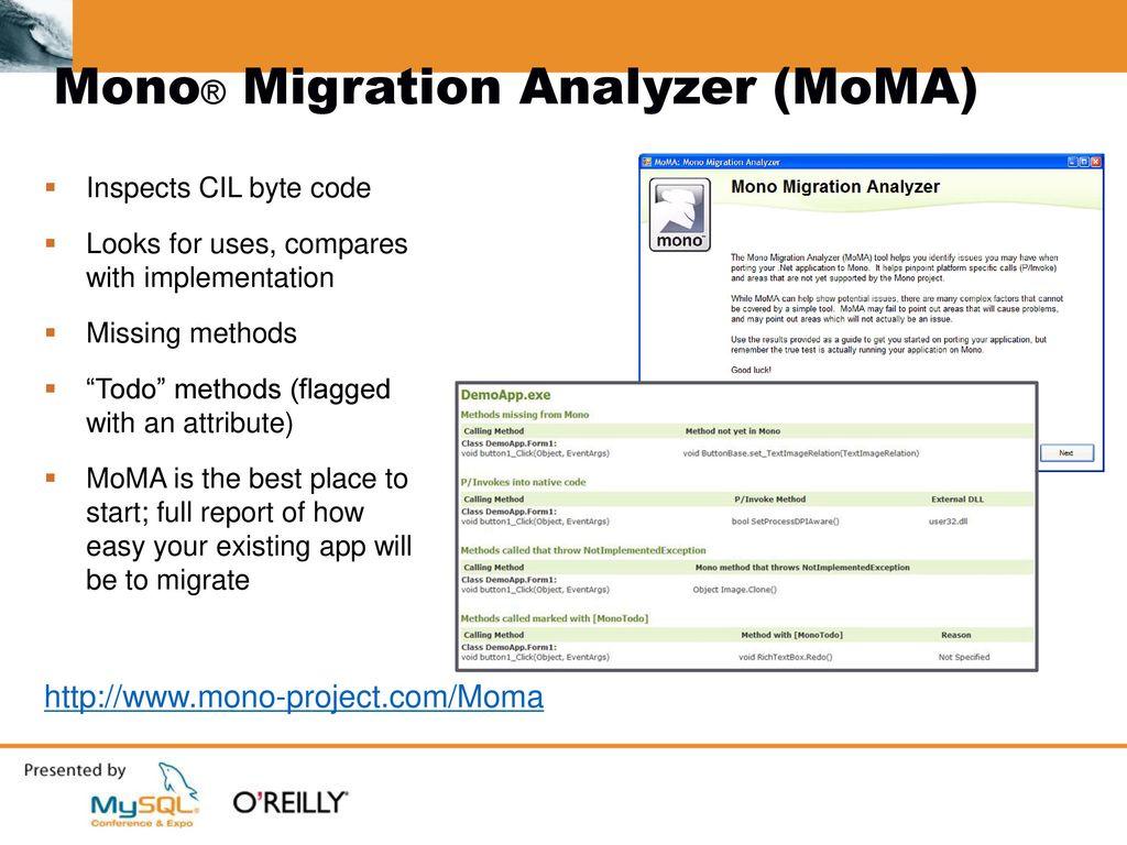 Cross-Platform  NET: Mono and MySQL - ppt download
