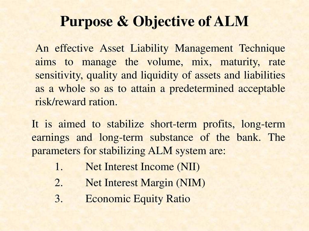 objectives of asset liability management