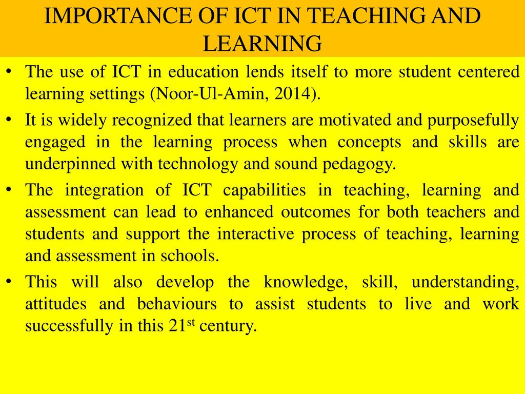 importance of ict in teaching and learning