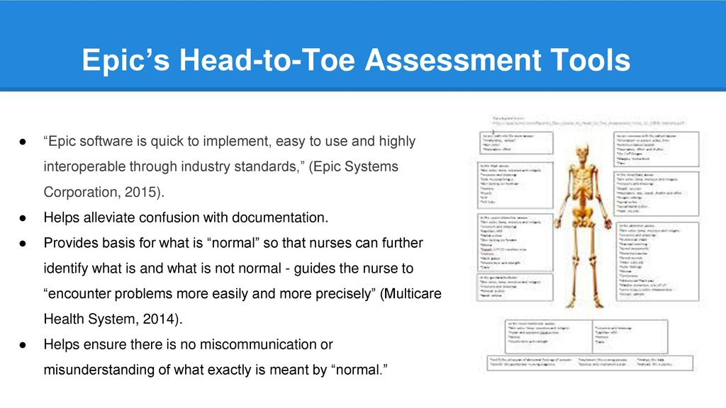 Head To Toe Assessment Ppt Download