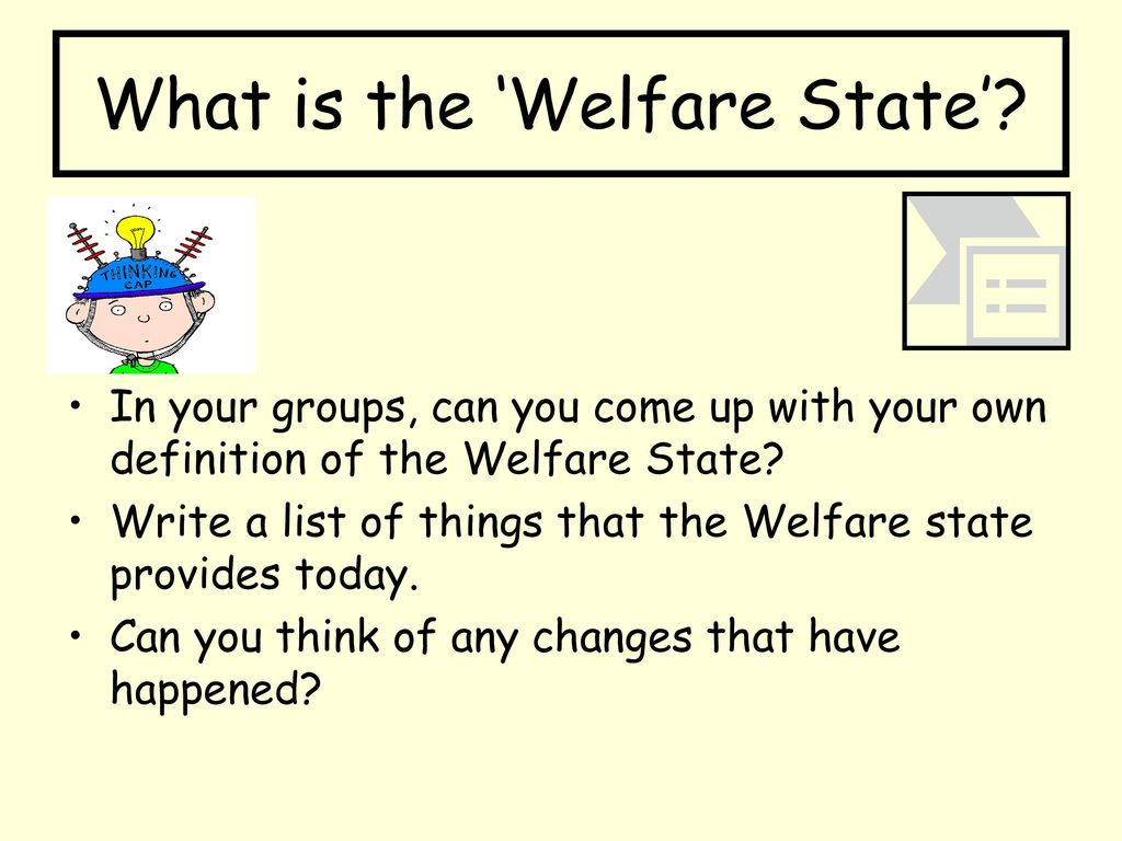 creation of the welfare state - ppt download