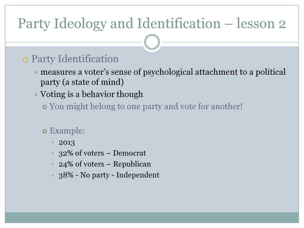 party identification example