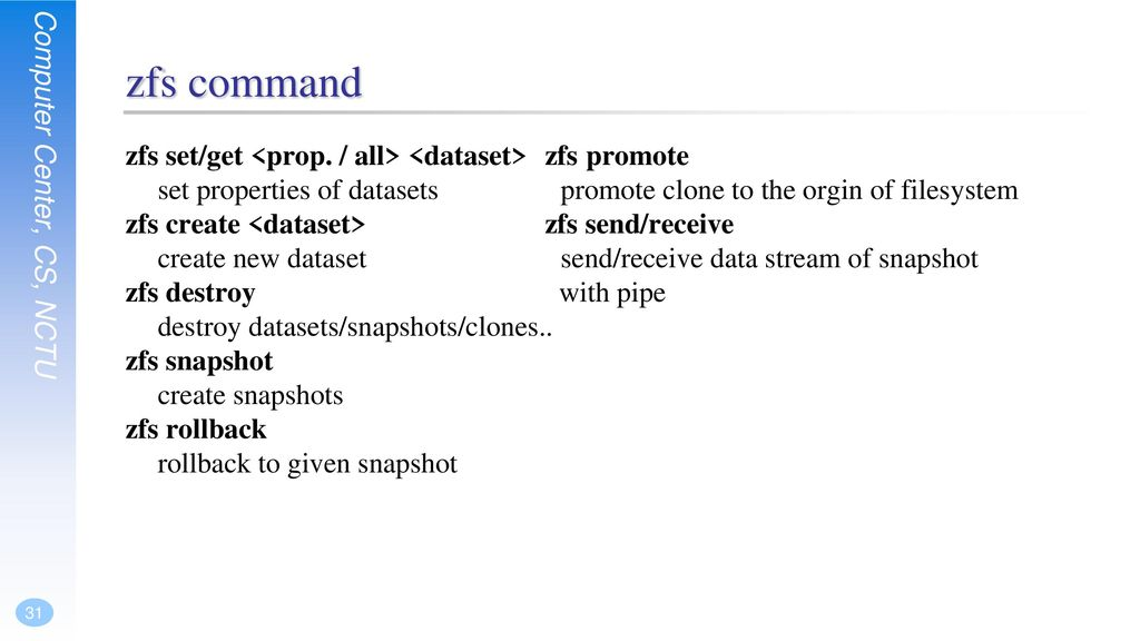 ZFS The Last Word in Filesystem - ppt download