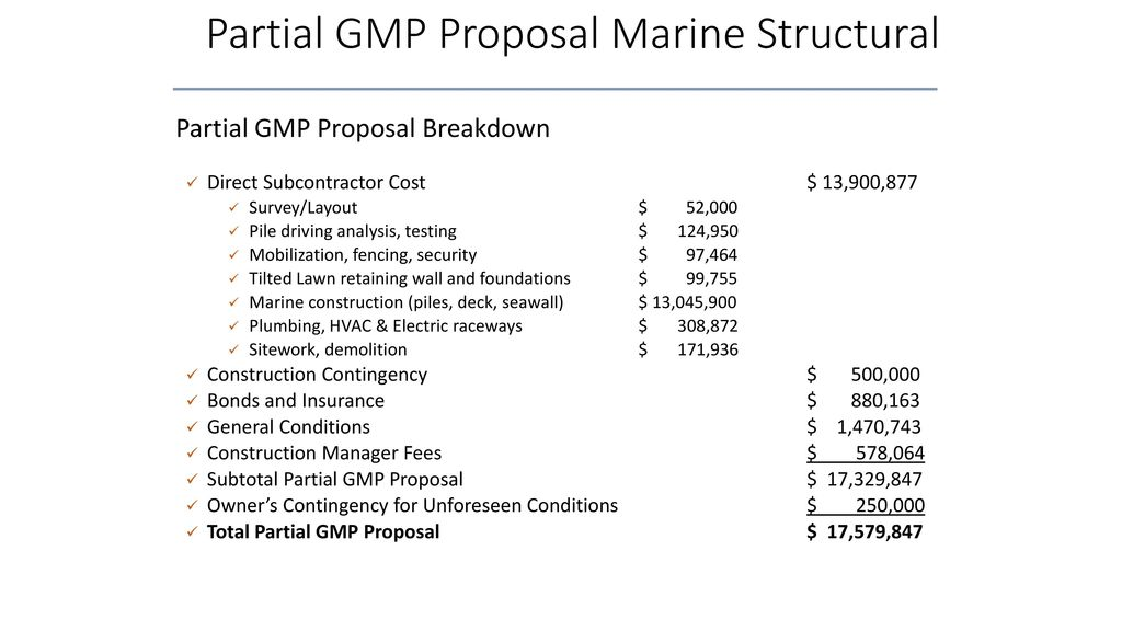 pier partial gmp proposal for marine structural june 1 ppt download