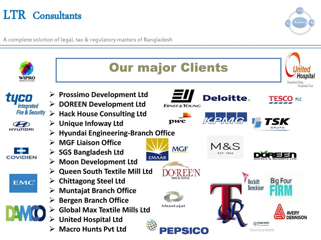 A Complete solution of Legal, Tax & Regulatory matters of
