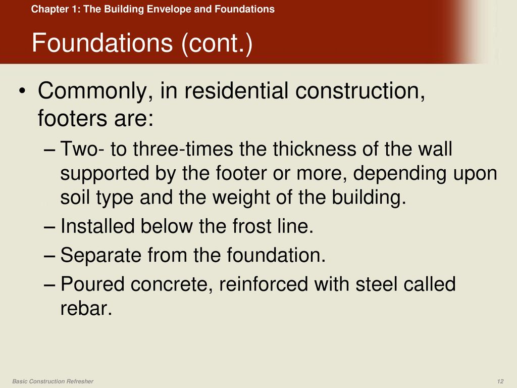 The Building Envelope and Foundations - ppt download