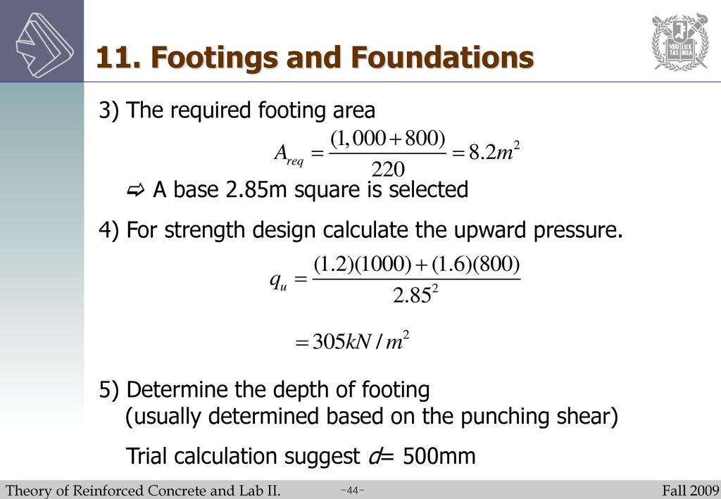 Theory of Reinforced Concrete and Lab  II - ppt video online