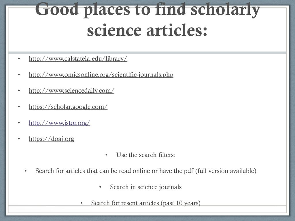 science essay december th   ppt download good places to find scholarly science articles