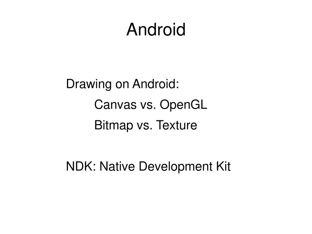 Android  - ppt download