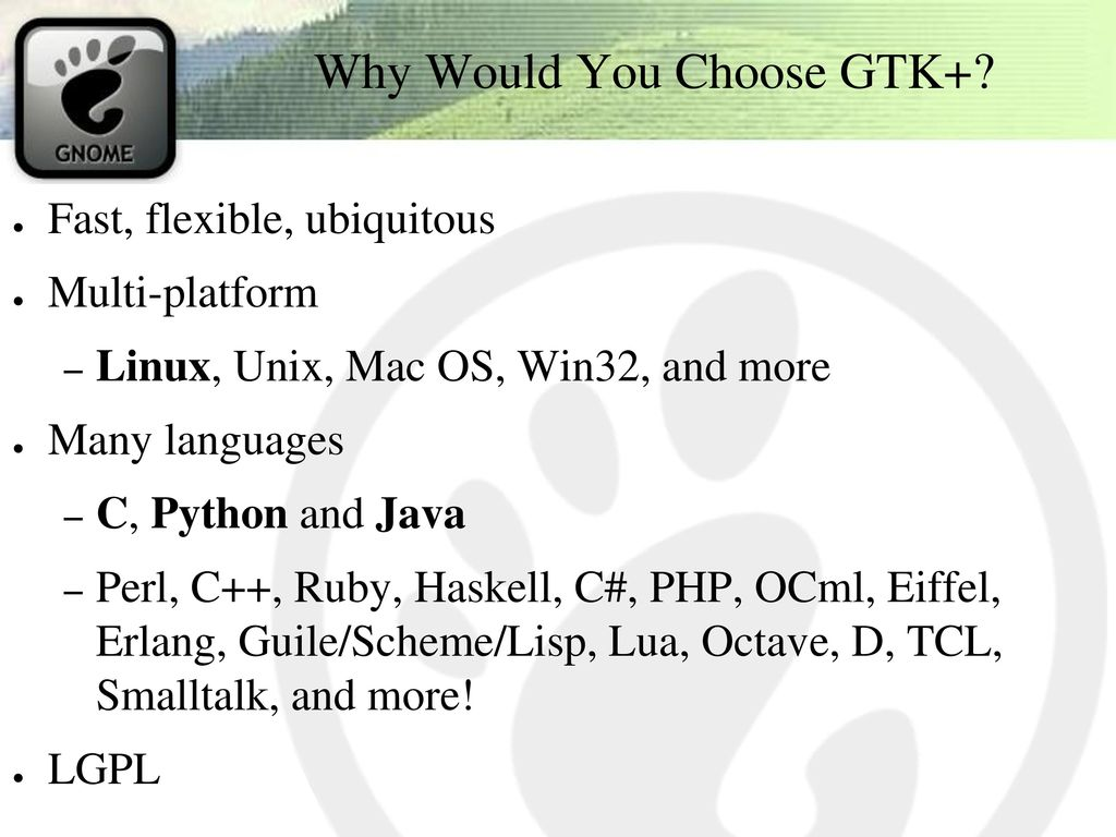 Writing Really Rad GTK+ & GNOME Applications in C, Python or