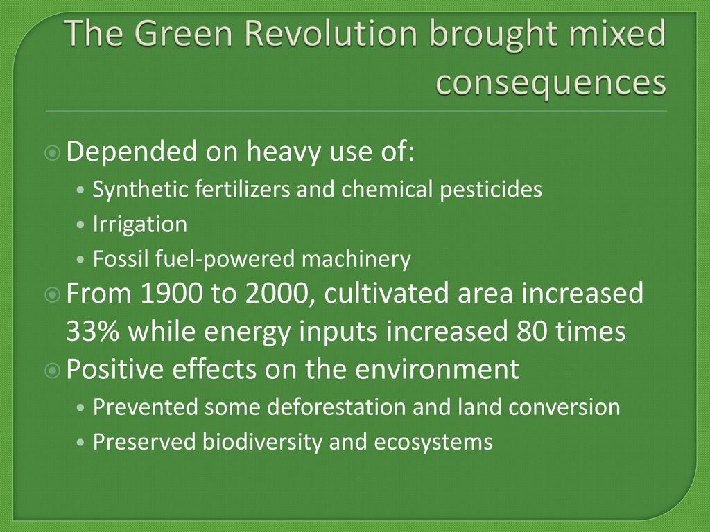 effects of green revolution on environment
