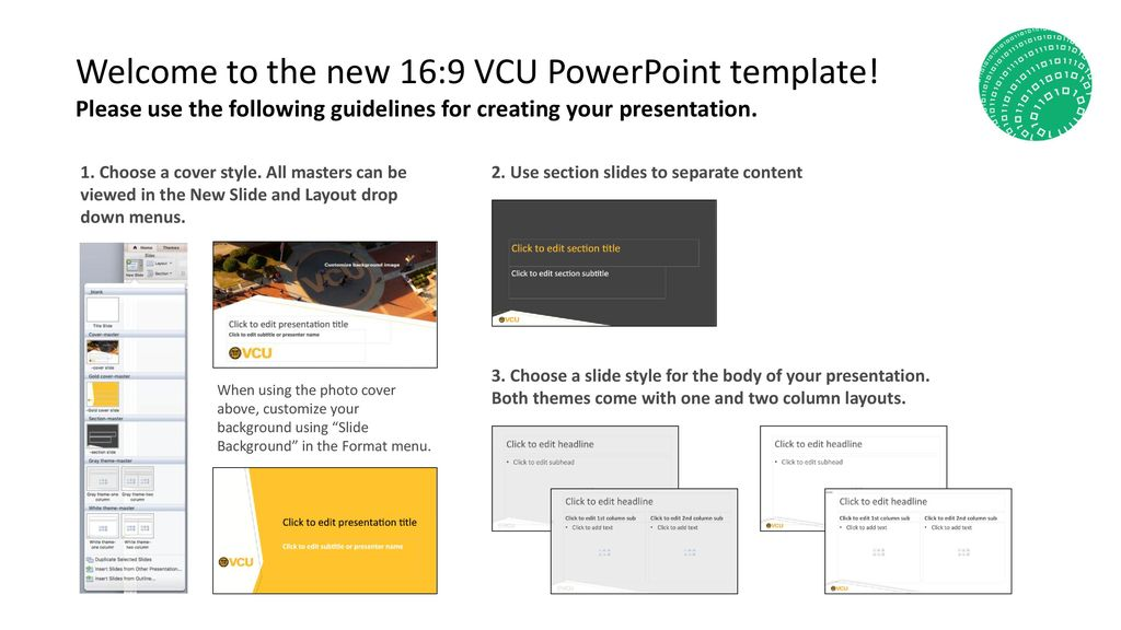 Welcome To The New 169 Vcu Powerpoint Template Ppt Download