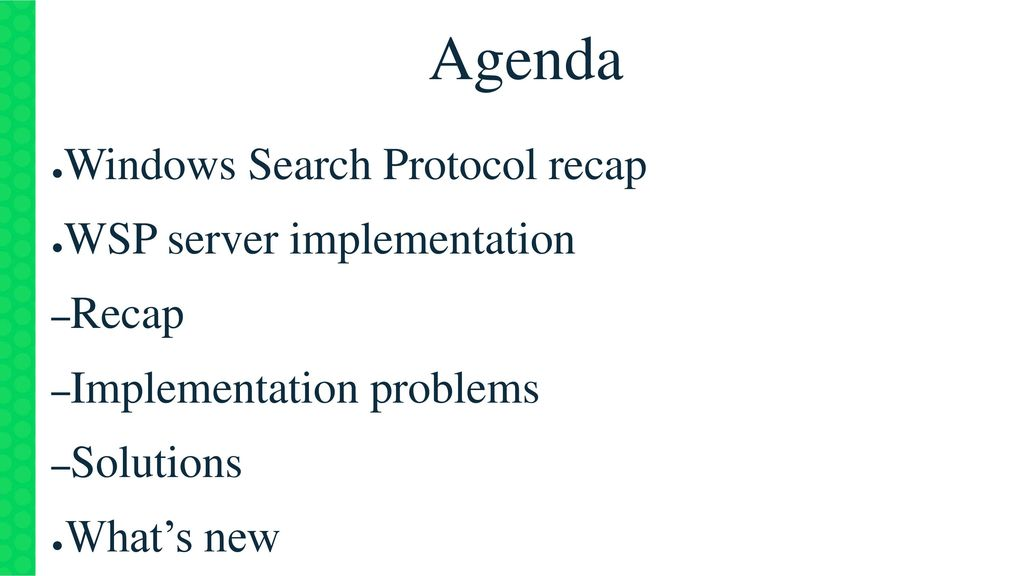 Windows Search Protocol recap & update - ppt download