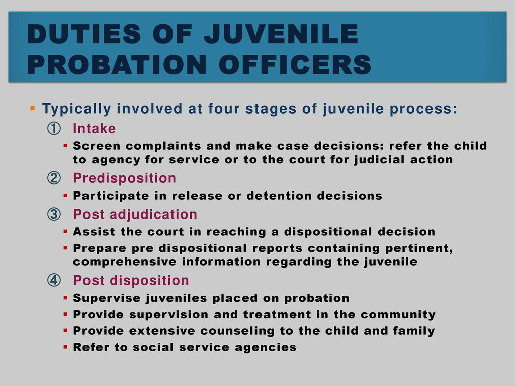 roles and responsibilities of juvenile probation officers
