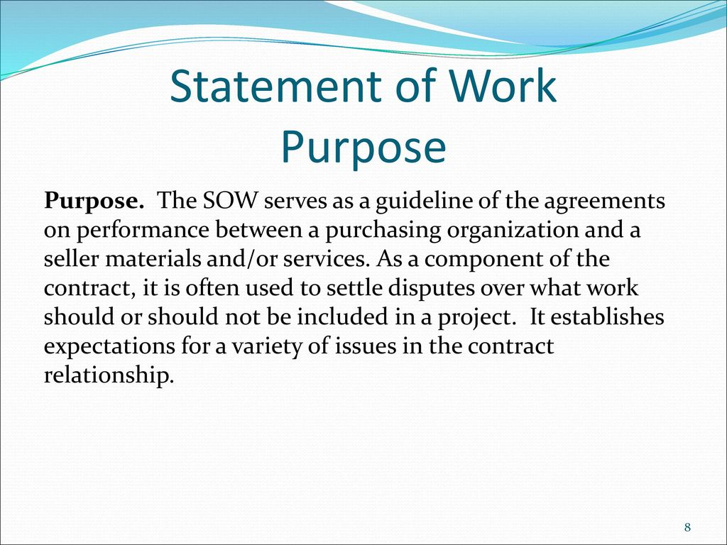 statement of work sow ppt download