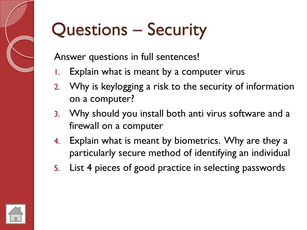 computer virus questions and answers