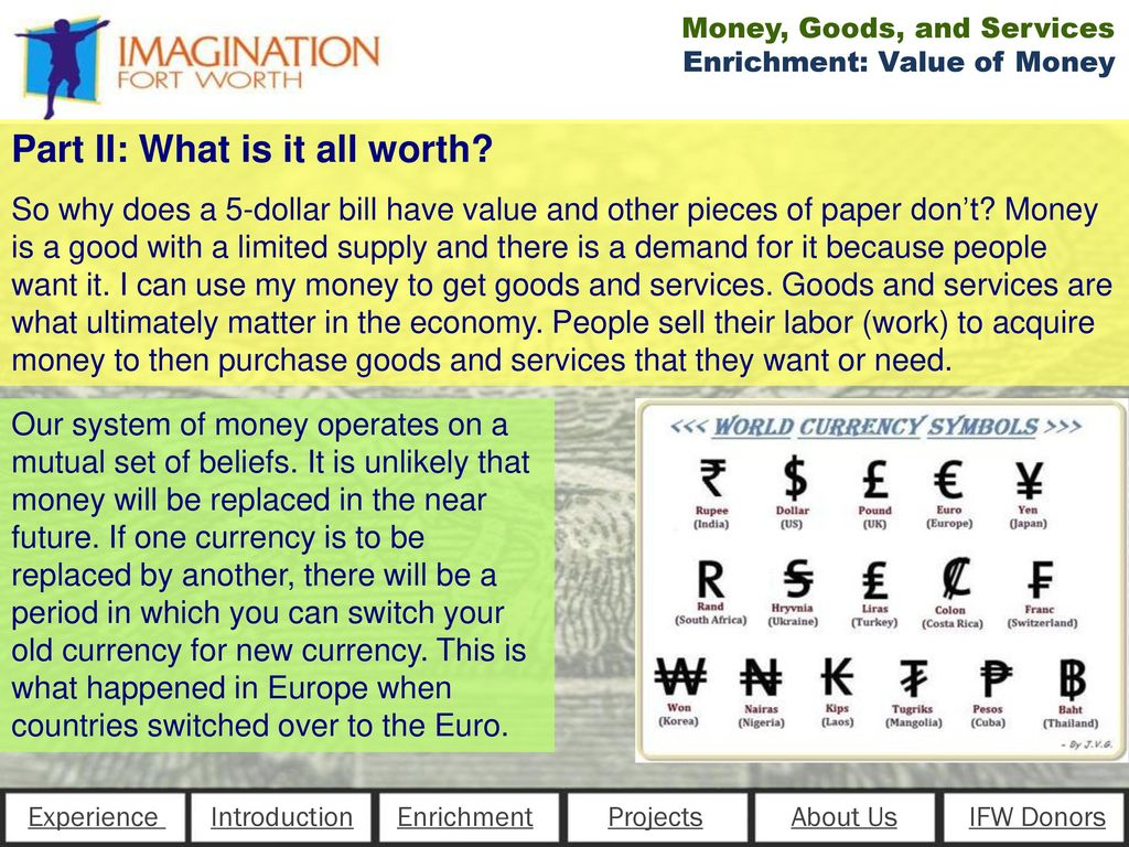 Money Goods Services Ppt Download