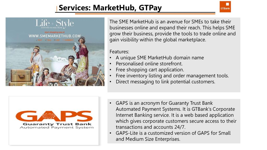 PRODUCTS & SERVICES AVAILABLE TO SMEs - ppt download