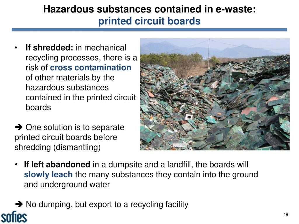 The Best Available Technologies In E Waste Management Ppt Download Circuit Board Recycling Equipment Hazardous Substances Contained Printed Boards