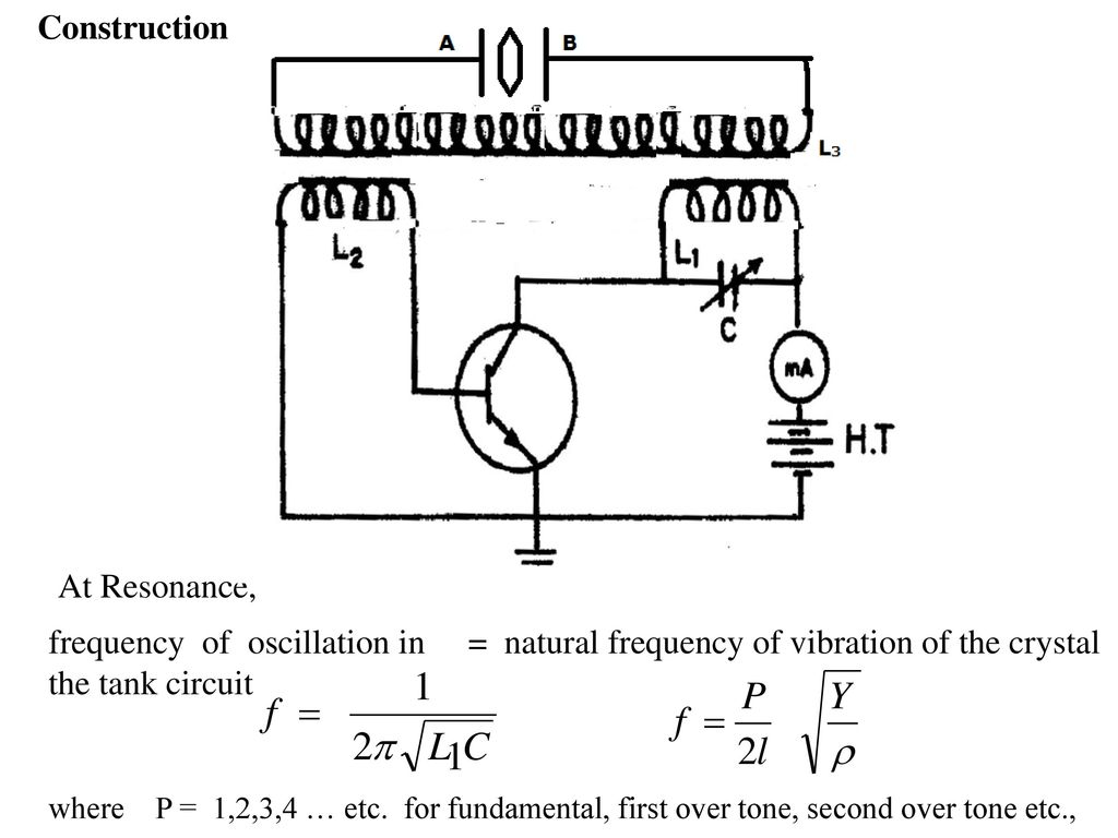 Unit Iv Ultrasonics Ppt Video Online Download Oscillatory Circuit For An Ultrasonic Cleaning Device With Feedback Frequency Of Oscillation In The Tank