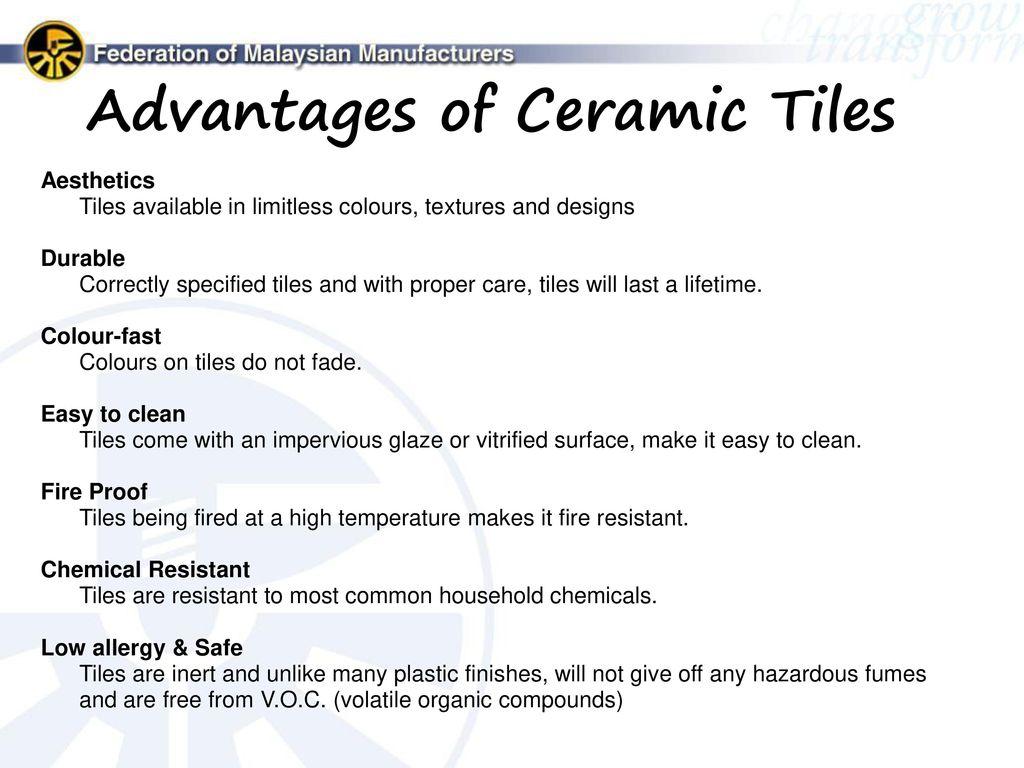 Advantages Of Ceramic Tiles