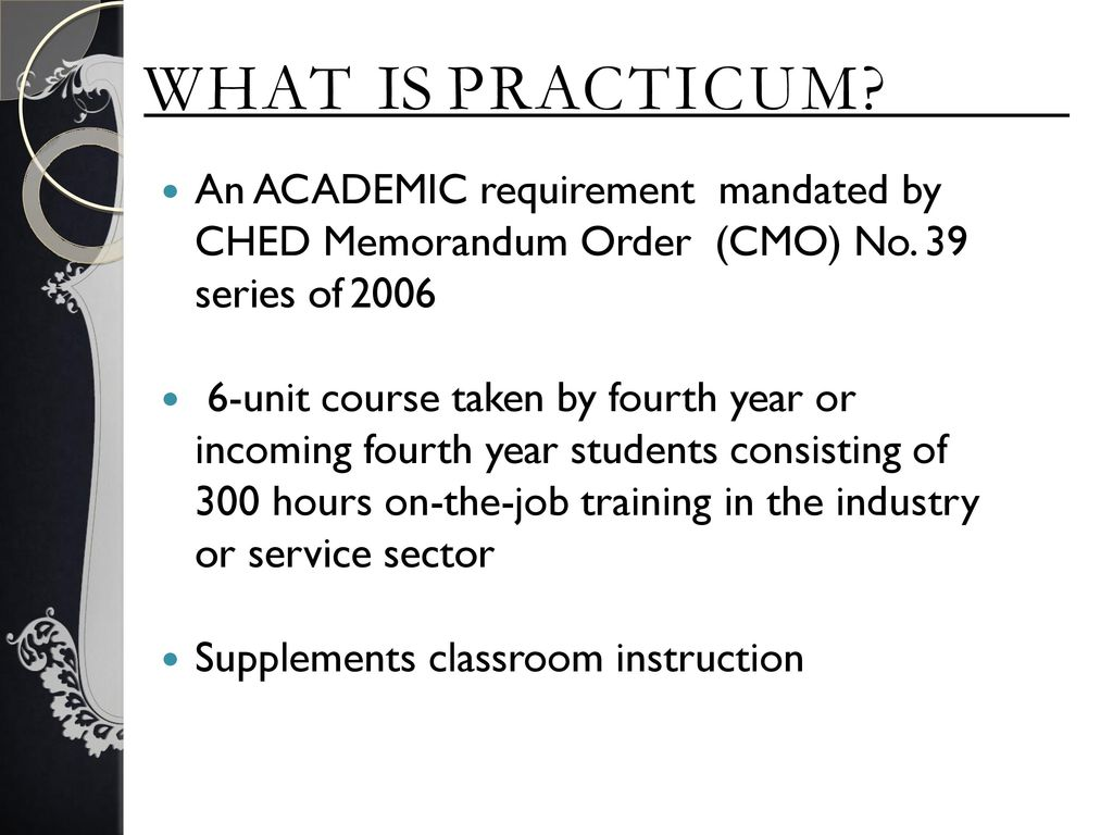 PRACTICUM ORIENTATION for Academic Year - ppt download