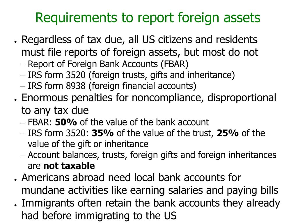Citizenship-based taxation and related reporting requirements: - ppt ...