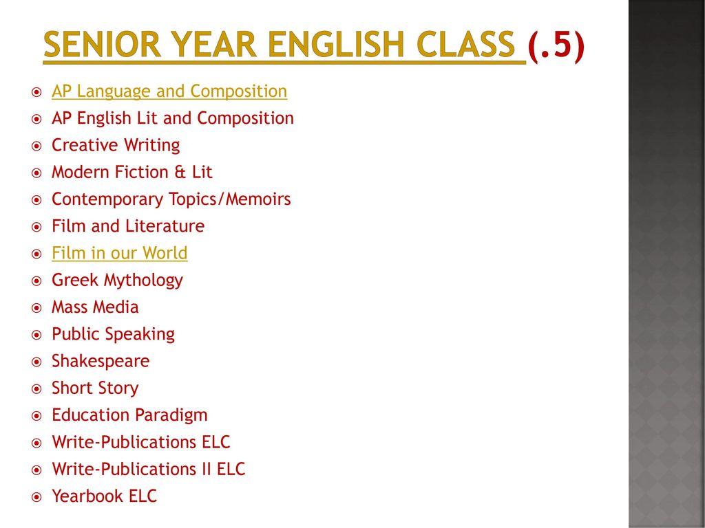 Senior Course Registration - ppt download
