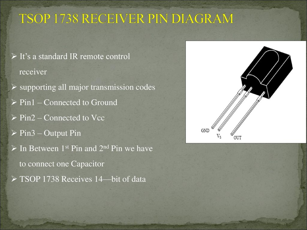 Using Tv Remote As A Cordless Mouse For The Computer Ppt Download Model And Control Schematics Electronics Circuits Tsop 1738 Receiver Pin Diagram