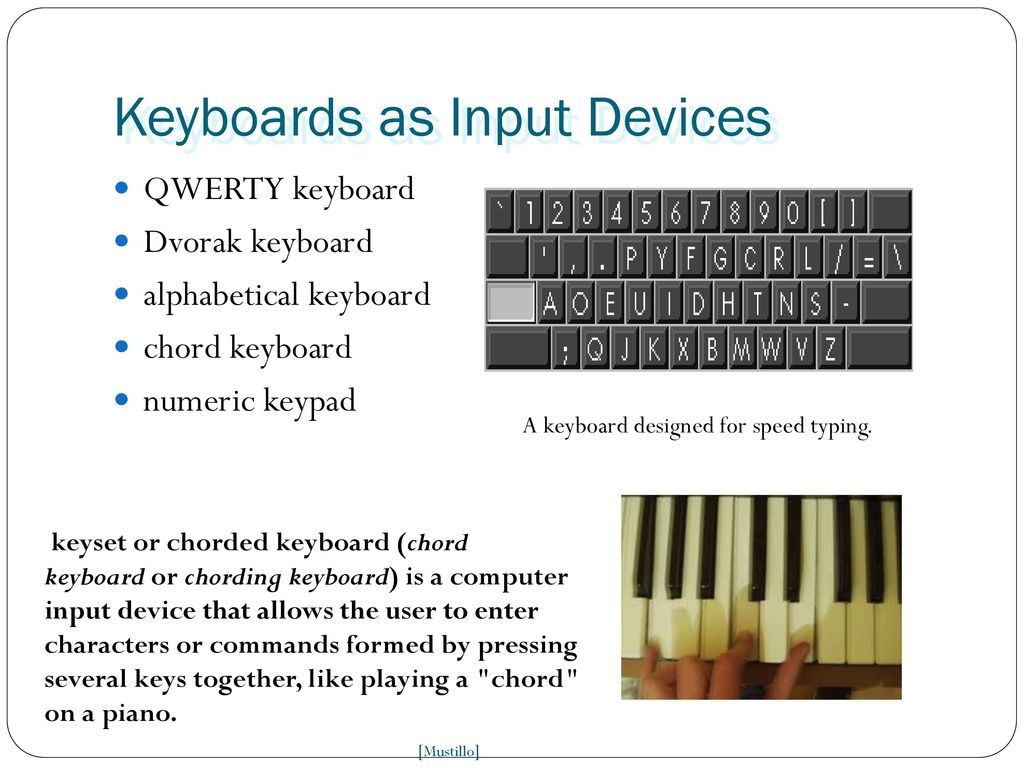 INPUT & OUTPUT Devices INPUT & OUTPUT Devices INPUT & OUTPUT