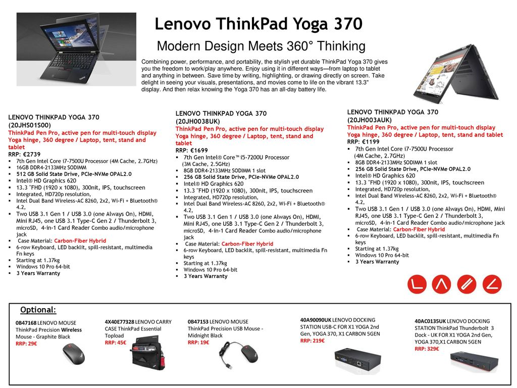 Lenovo ThinkPad Notebooks Special Promo - ppt video online