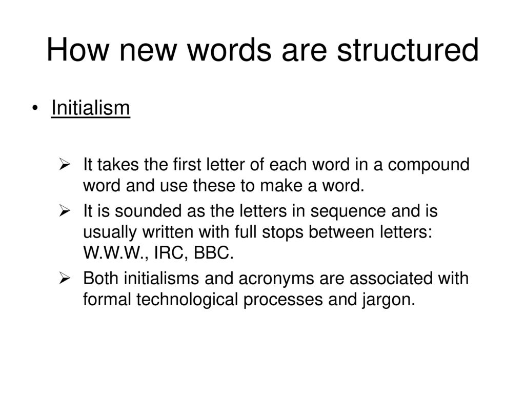 How New Words Are Structured Ppt Video Online Download