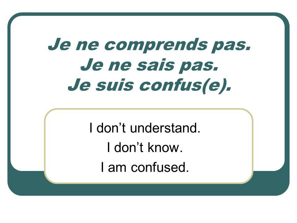 Comment Dire En Français Ppt Download
