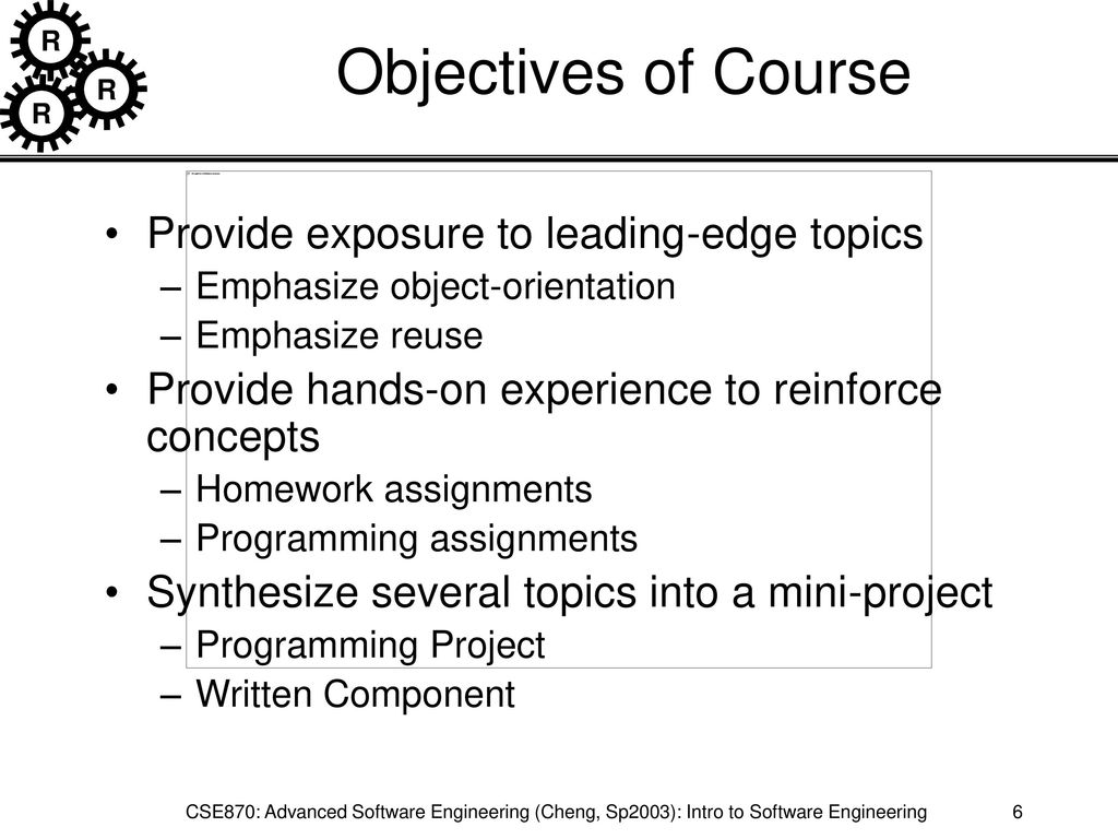Advanced Software Engineering Dr  Cheng - ppt download