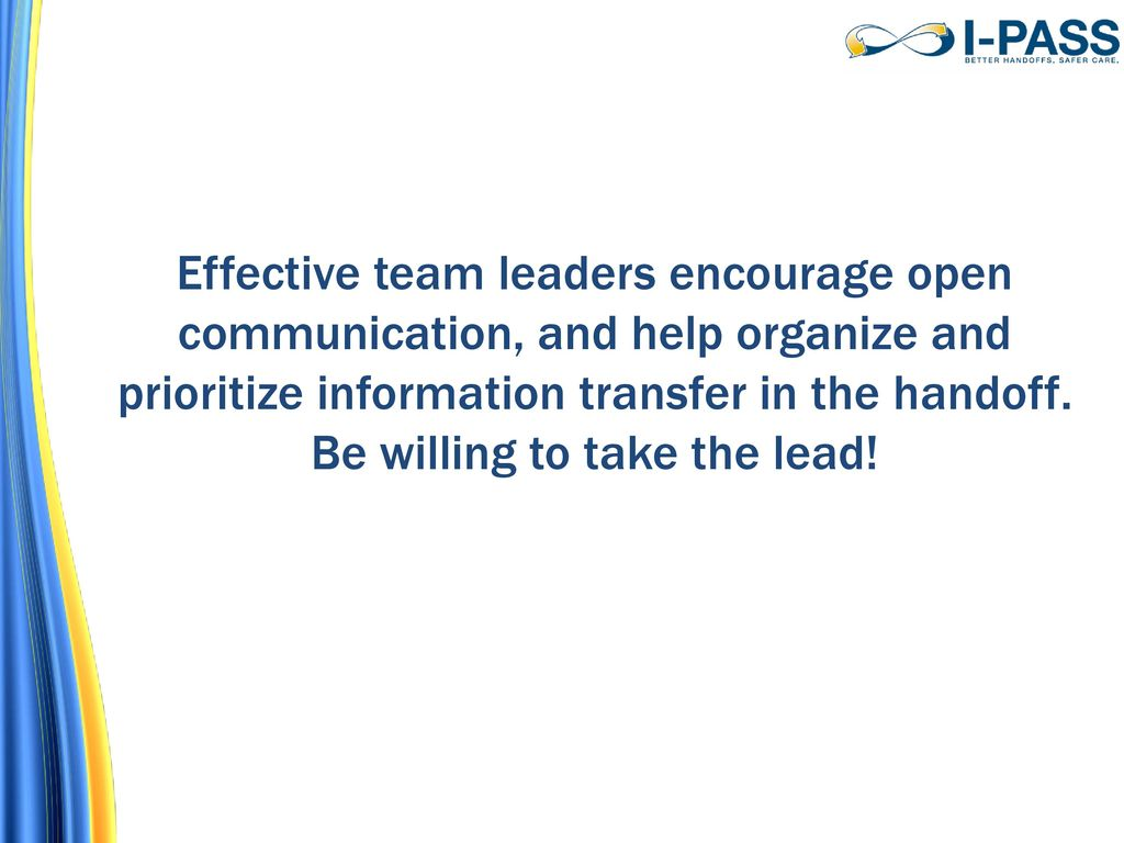 Tip of the day ppt download effective team leaders encourage open communication and help organize and prioritize information transfer in the freerunsca Gallery