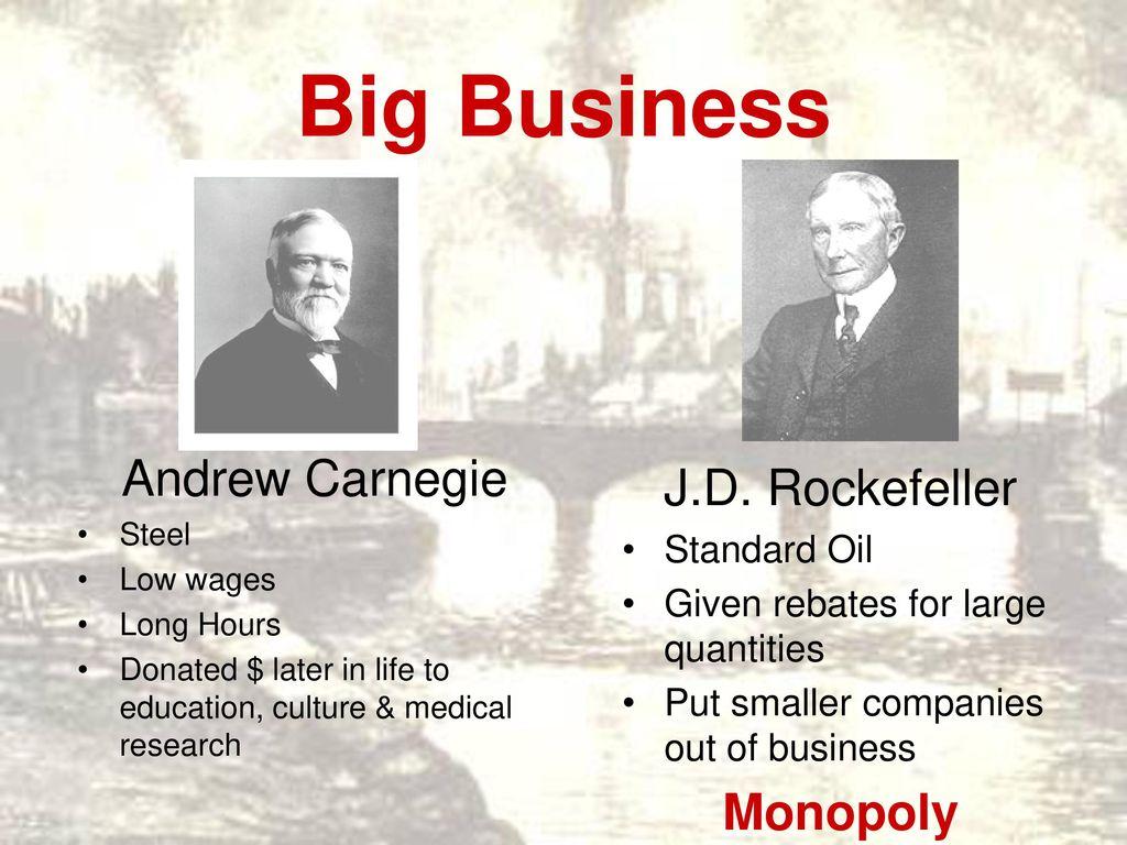 andrew carnegie standard oil company
