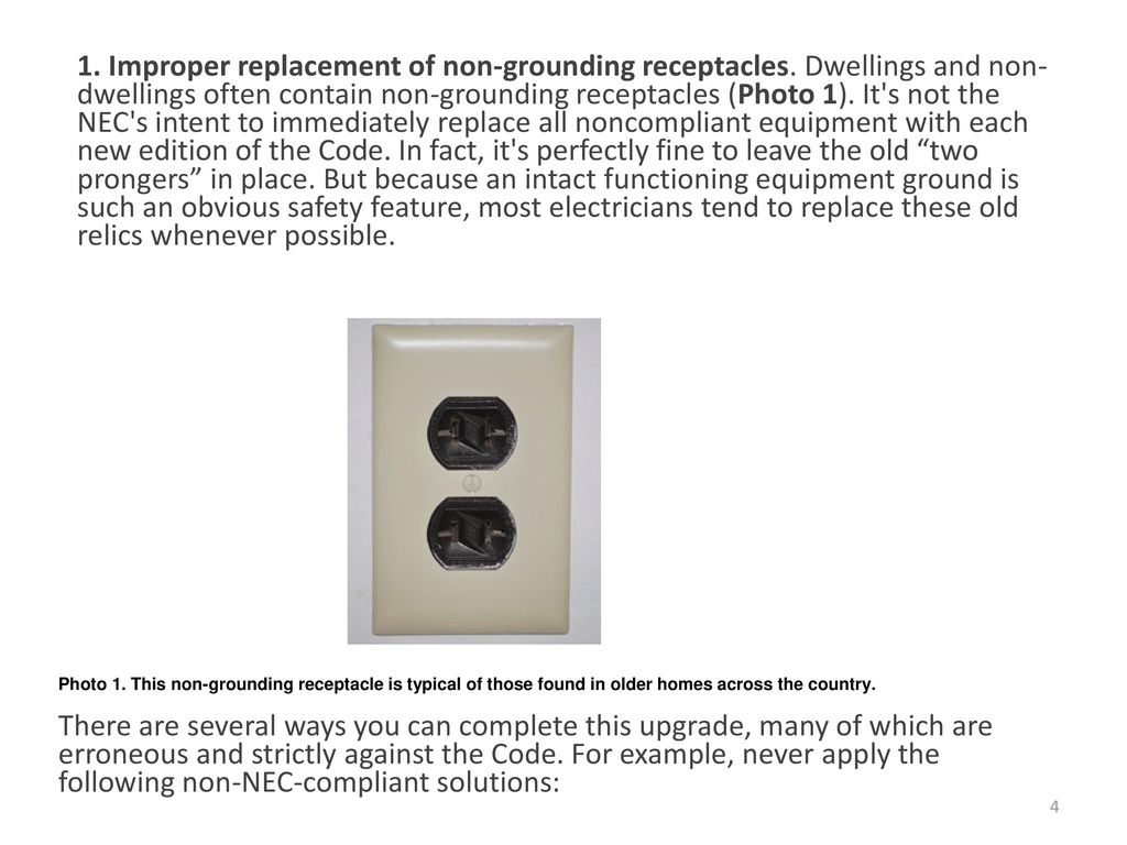 grounding, etc ppt downloadProng Outlets To 3 Prongers Old Home Problems Thanks Bay Area #4