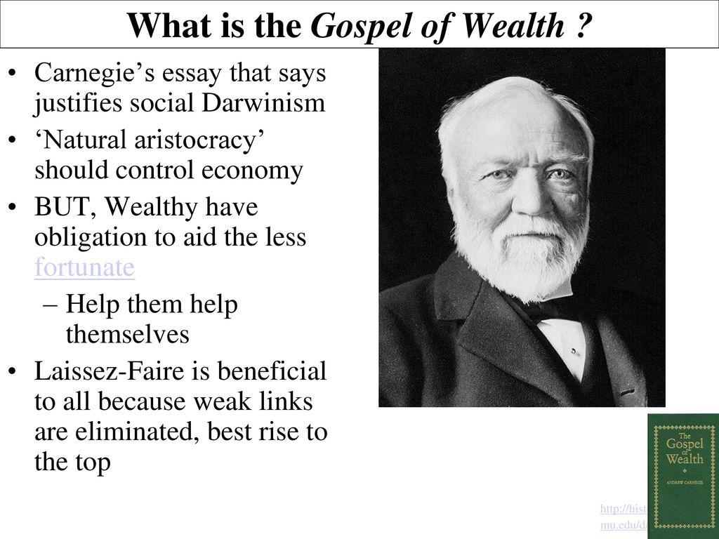 Gospel Of Wealth Gilded Age