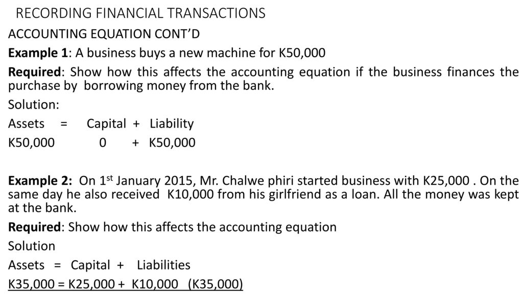 FINANCIAL ACCOUNTING LECTURE NOTES BY MR  S - ppt download