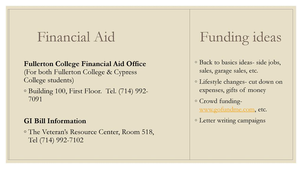 Fullerton College Financial Aid >> Fullerton College Cypress College Ppt Download