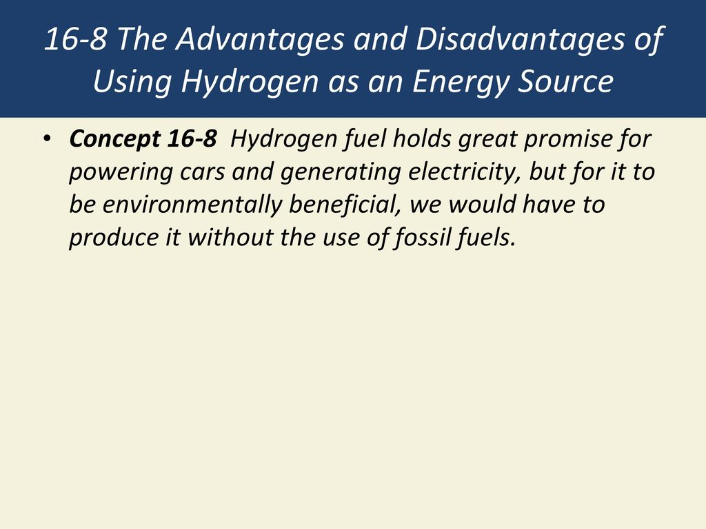 advantages of using hydrogen as a fuel