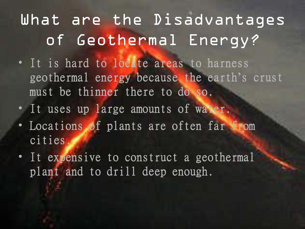 Disadvantages Of Using Geothermal Energy Energy Etfs