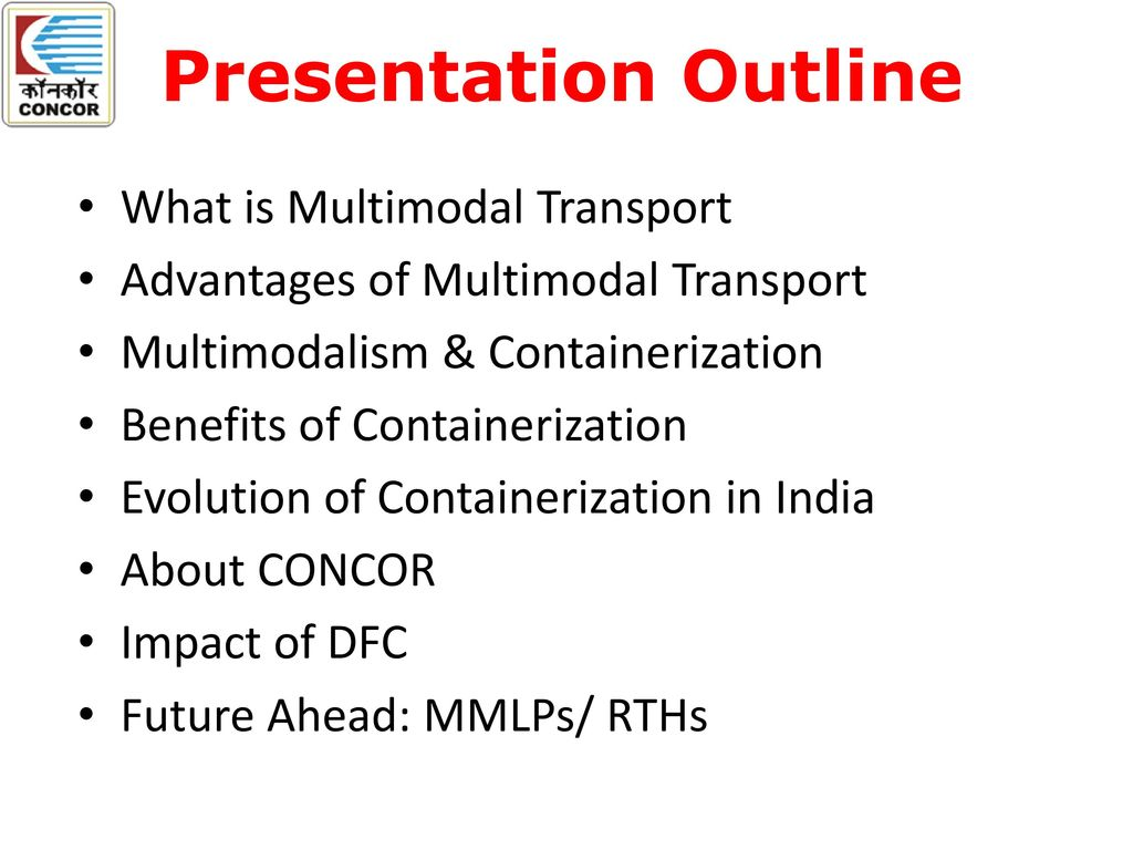 advantages of multimodal transport