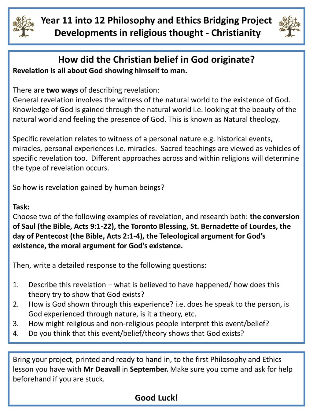 How did the Christian belief in God originate? - ppt download