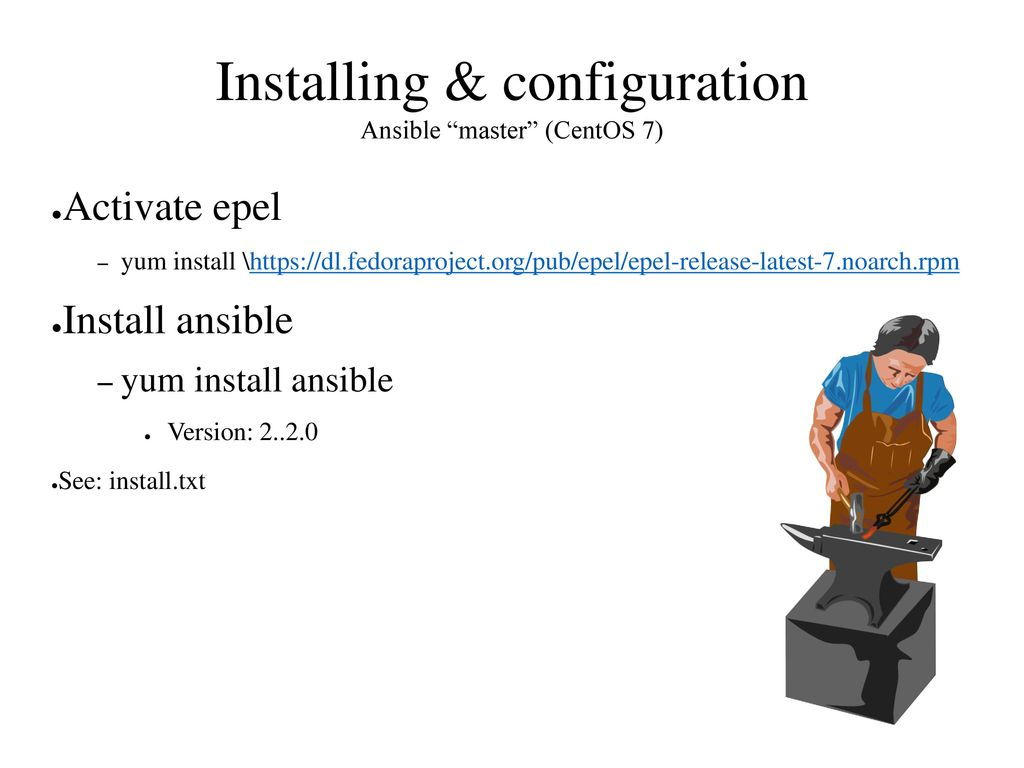 Ansible Configuration management tool and ad hoc solution