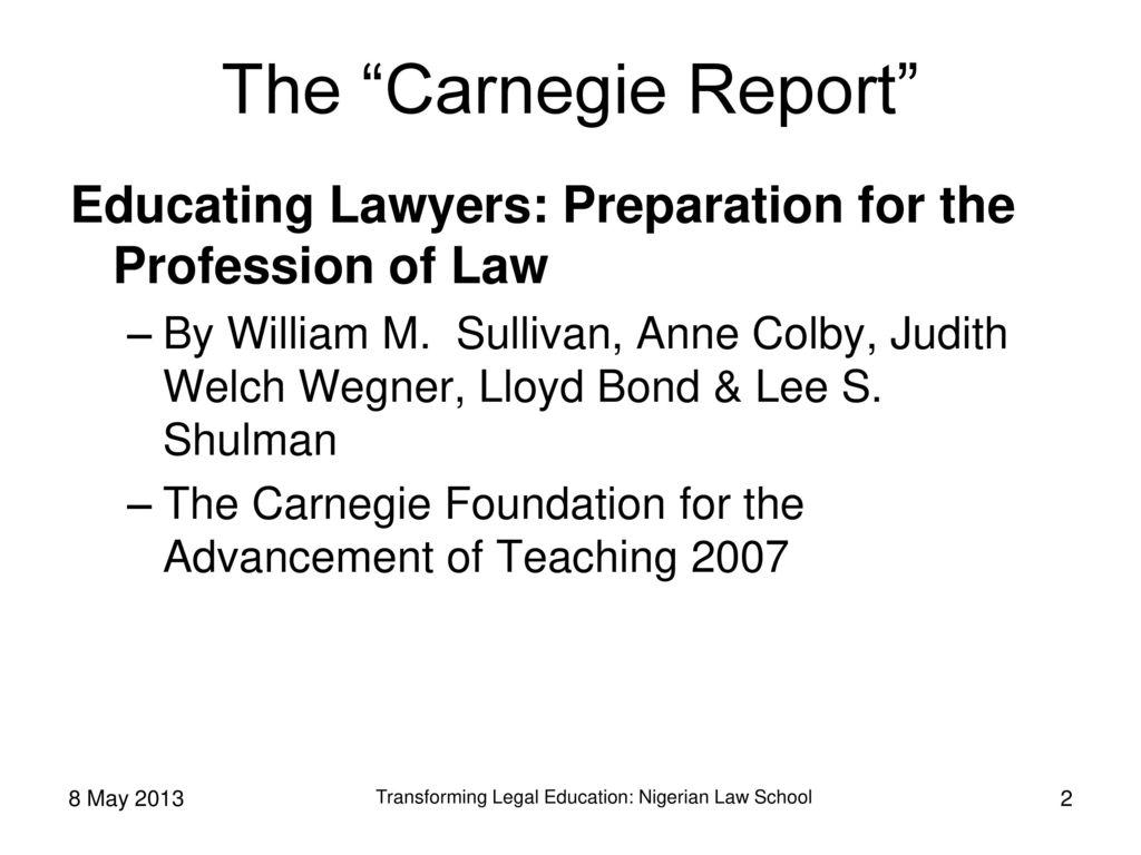 Transforming Legal Education Nigerian Law School